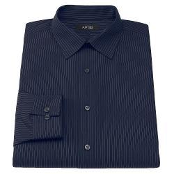 APT. 9 - Slim-Fit Pinstripe Spread-Collar Dress Shirt