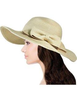 Dahlia - Wide Brim Floppy Straw Sun Hat