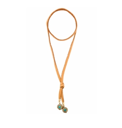 Vanessa Mooney - Leather & Nepali Bead Bolo Necklace