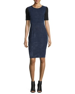 Elie Tahari - Emily Colorblock Combo Sheath Dress