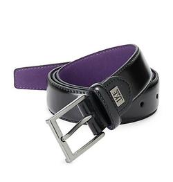Ike By Ike Behar  - Leather Square Buckle Belt