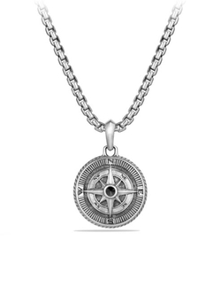 David Yurman  - Maritime Diamond Compass Amulet Necklace