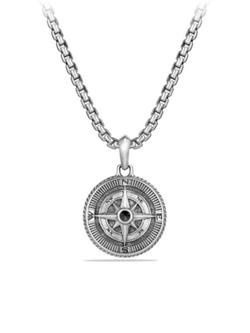 David Yurman  - Maritime Diamond Compass Amulet Necklace