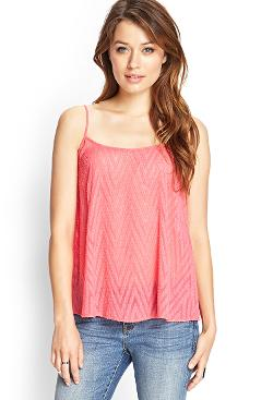 Forever 21 - Sheer Chevron-Textured Cami