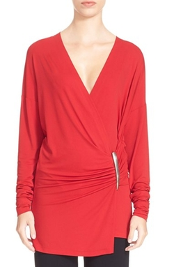 Donna Karan New York  - Element Hardware Jersey Wrap Top