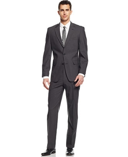 Tommy Hilfiger  - Charcoal Sharkskin Classic-Fit Suit