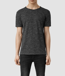 All Saints - Figet Stripe Crew T Shirt