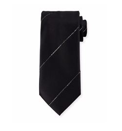 Stefano Ricci  - Silk Tie With Crystal-Stripe