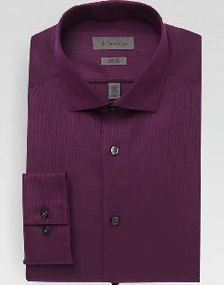 CALVIN KLEIN  - MAROON SLIM FIT DRESS SHIRT