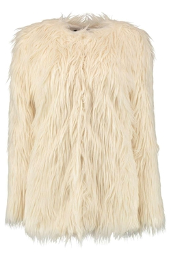 Boohoo - Holly Shaggy Mongolian Faux Fur Coat