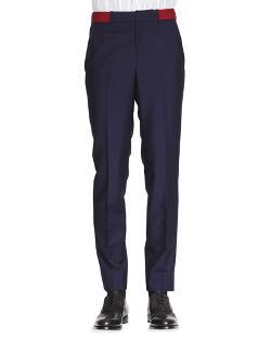 Alexander McQueen  - Contrast Belt Wool/Mohair Pants