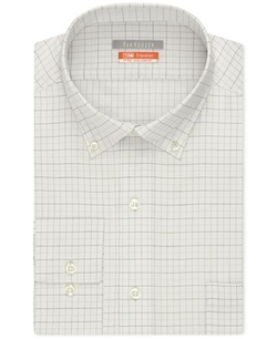 Van Heusen - Traveler Fitted Check Performance Dress Shirt