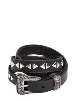 Saint Laurent - Western Studded Leather Belt