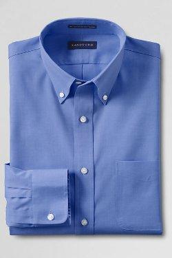 Lands End - Pinpoint Buttondown Dress Shirt
