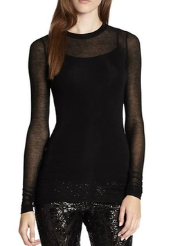 BCBGMAXAZRIA - Agda Sheer Long-Sleeve Tee