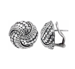John Hardy - Dot Twirl Round Earrings