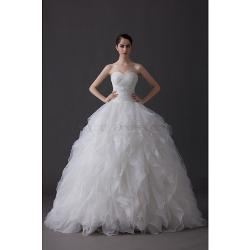 Abby Dress - Luxurious Princess Organza Strapless Wedding Dresses
