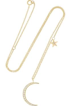 Anita Ko - Moon And Star Diamond Necklace