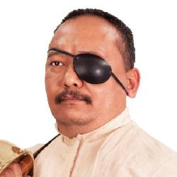 Museum Replicas - Leather Eye Patch - Left Eye - Pirate Costume Accessories