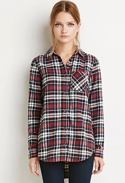 Forever 21 - Classic Plaid Flannel Shirt