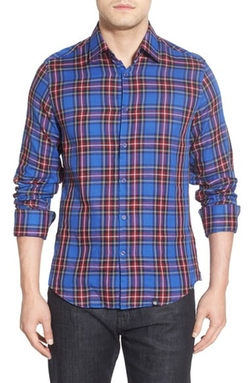 Stone Rose  - Classic Fit Plaid Sport Shirt