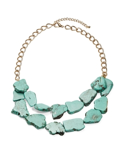 Robert Rose - Faux-Turquoise Statement Necklace
