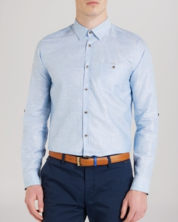 Ted Baker - Farewel Solid Classic Button Down Shirt
