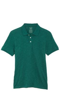 Vince  - Short Sleeve Slub Polo