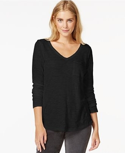 Maison Jules  - Long-Sleeve V-Neck T-Shirt