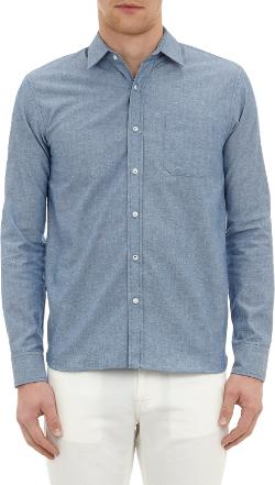 ALEXANDER OLCH  - Chambray Button-Front Shirt