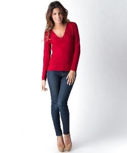 Yuka Paris  - Solid Color V-Neck Shirt