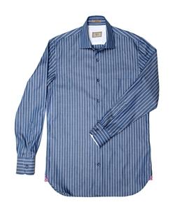 Alara - Italian Stripe Chambray Shirt