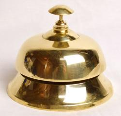 Eastlake Federal Hardware Company - Solid Brass Large Polished Hotel Desk Push Bell