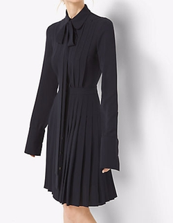 Michael Kors Collection - Pleated Silk-Georgette Shirtdress