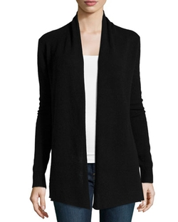 Neiman Marcus - Cashmere Open-Front Cardigan, Black