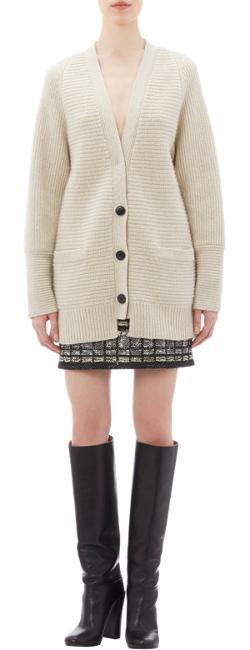 Proenza Schouler  - Oversize Rib-knit Cardigan