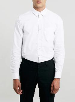 Topman - Long Sleeve Oxford Shirt