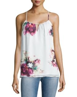 Haute Hippie - Floral-Print Silk Camisole Top