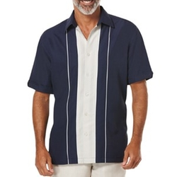 Cubavera - Contrast Panel Sport Shirt