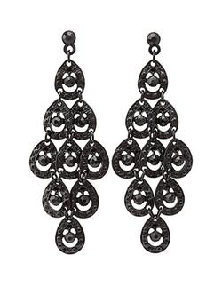 Charlotte Russe - Black Chandelier Earrings
