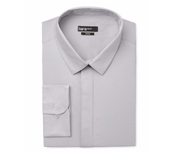 Bar III - Slim-Fit Ice Gray Dress Shirt