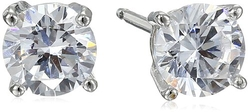 Amazon Collection - Round Cubic Zirconia Stud Earrings