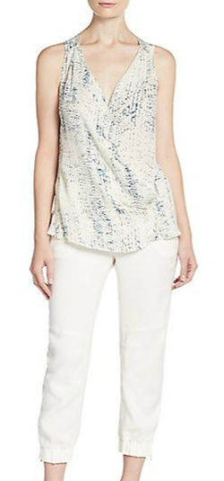 Ramy Brook - Sloane Silk Croc-Print Top