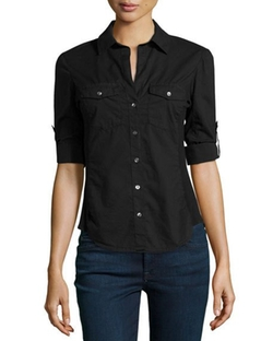 James Perse - Pocket Button-Down Blouse