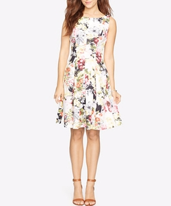 American Living  - Floral-Print Fit & Flare Dress