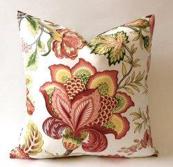 Nora Quinonez - Floral Cotton Print Decorative Pillow Cover