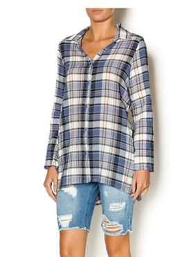 PPLA - Plaid Tunic Button Down