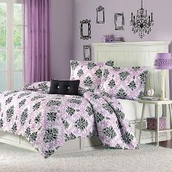 Mi-Zone - Katelyn Printed Comforter Set Size: Twin/Twin Extra Long, Color: Purple