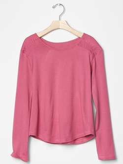 Gap - Long Sleeve Smocked Tee