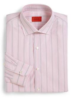 ISAIA  - Multistriped Cotton Dress Shirt